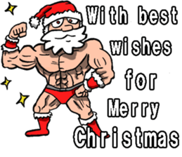 Merry Christmas Wiht Gymnast Santa Claus Stickers messages sticker-3