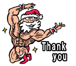 Merry Christmas Wiht Gymnast Santa Claus Stickers messages sticker-7