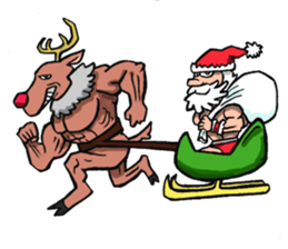 Merry Christmas Wiht Gymnast Santa Claus Stickers messages sticker-6
