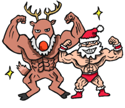 Merry Christmas Wiht Gymnast Santa Claus Stickers messages sticker-1