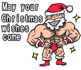 Merry Christmas Wiht Gymnast Santa Claus Stickers messages sticker-2
