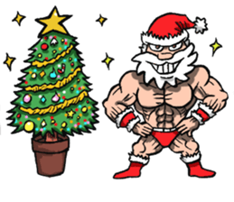 Merry Christmas Wiht Gymnast Santa Claus Stickers messages sticker-0
