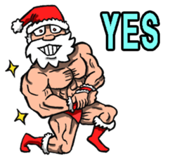 Merry Christmas Wiht Gymnast Santa Claus Stickers messages sticker-8