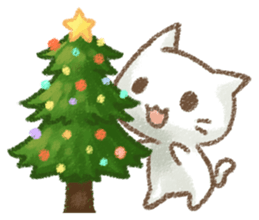 Christmas Of Cute Cat Stickers messages sticker-0