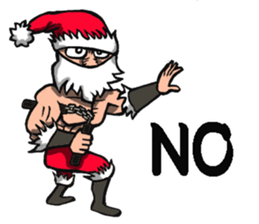 Stickers Of Funny Ninja Santa Claus messages sticker-10