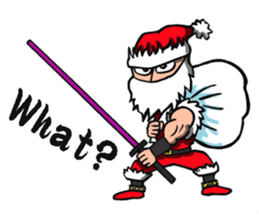 Stickers Of Funny Ninja Santa Claus messages sticker-5
