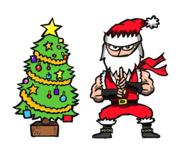 Stickers Of Funny Ninja Santa Claus messages sticker-7