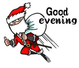 Stickers Of Funny Ninja Santa Claus messages sticker-6