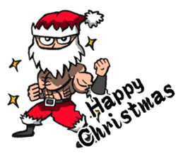 Stickers Of Funny Ninja Santa Claus messages sticker-0