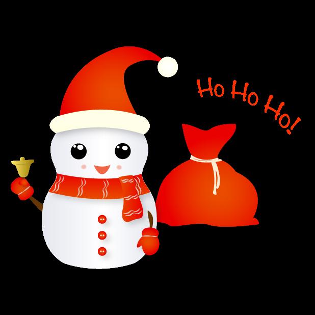 Christmas Snowman - Holiday Emoji messages sticker-5