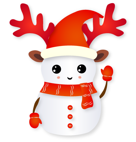Christmas Snowman - Holiday Emoji messages sticker-2