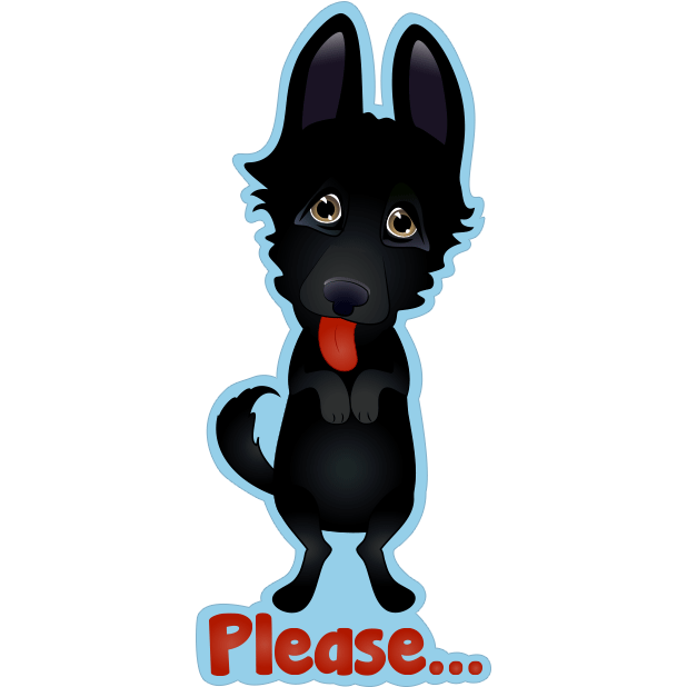 Nero the Black Dog Cute Funny Comic Pet Stickers messages sticker-3
