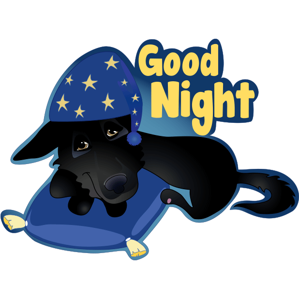 Nero the Black Dog Cute Funny Comic Pet Stickers messages sticker-11