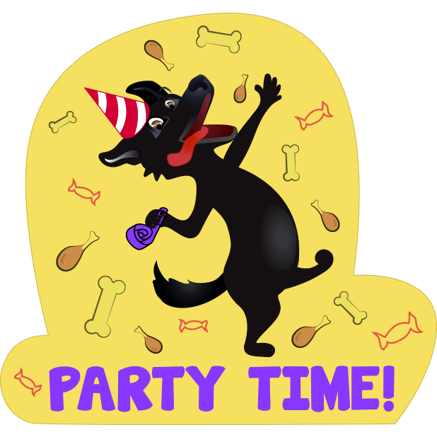 Nero the Black Dog Cute Funny Comic Pet Stickers messages sticker-9