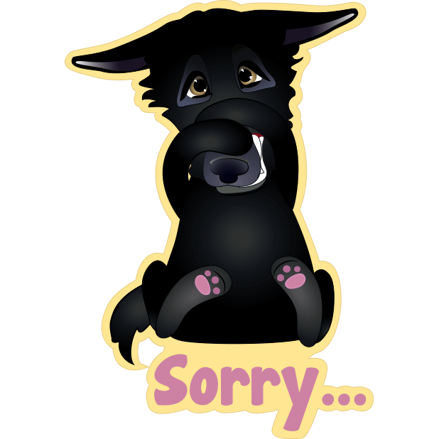 Nero the Black Dog Cute Funny Comic Pet Stickers messages sticker-4