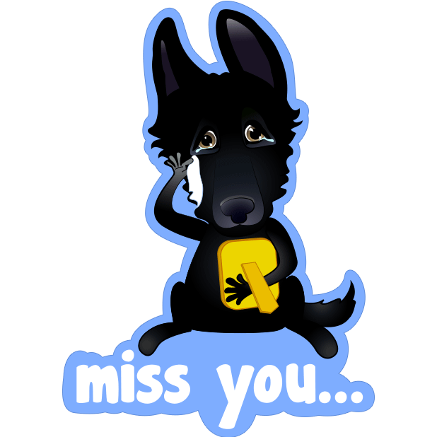 Nero the Black Dog Cute Funny Comic Pet Stickers messages sticker-8