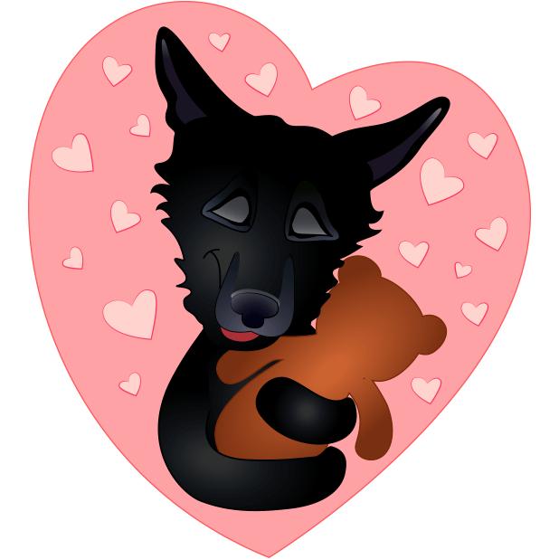 Nero the Black Dog messages sticker-7