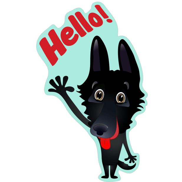 Nero the Black Dog messages sticker-0