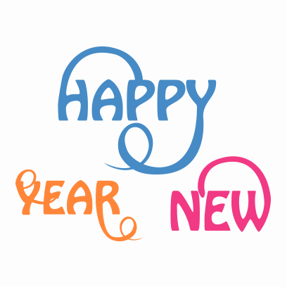 New Year Stickers for 2018 messages sticker-4
