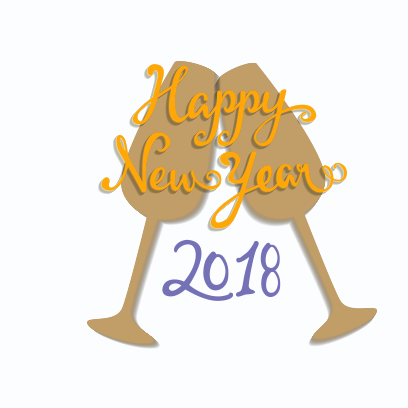 New Year Stickers for 2018 messages sticker-7