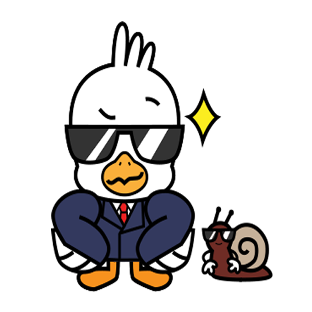 Gull and the snail messages sticker-9