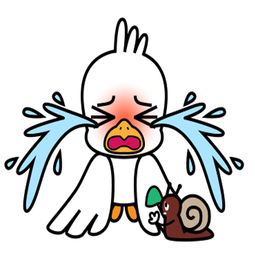 Gull and the snail messages sticker-10