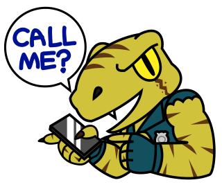 Raptor Cop Animated Stickers messages sticker-3