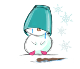 Xmas Of Lonely Snowman Stickers messages sticker-0