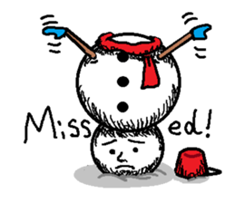 Many Stickers Of A Funny Snowman messages sticker-10
