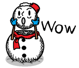 Many Stickers Of A Funny Snowman messages sticker-3