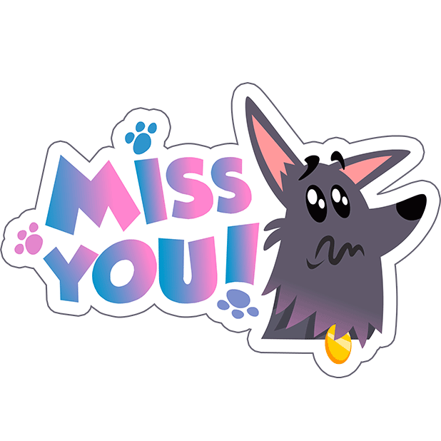 Cute Funny Dog Pet Comic Cartoon Stickers Pack messages sticker-11