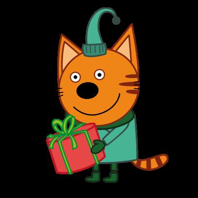 Kid-E-Cats: Winter messages sticker-2
