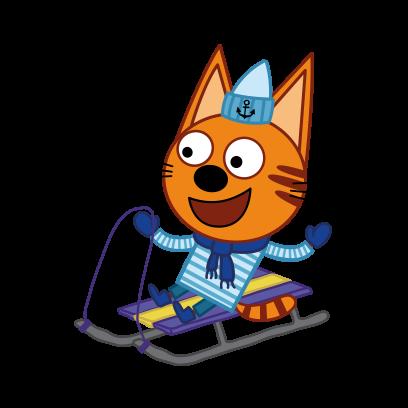 Kid-E-Cats: Winter messages sticker-4