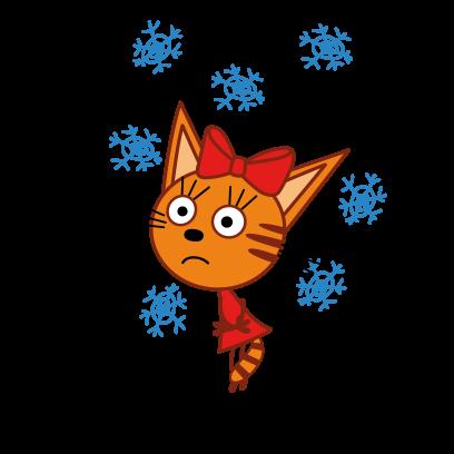 Kid-E-Cats: Winter messages sticker-3