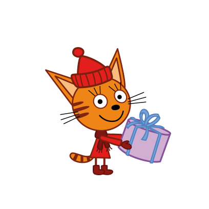 Kid-E-Cats: Winter messages sticker-1