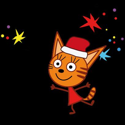 Kid-E-Cats: Winter messages sticker-7