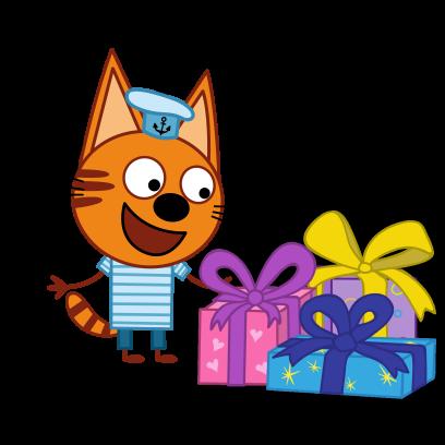 Kid-E-Cats: Winter messages sticker-0