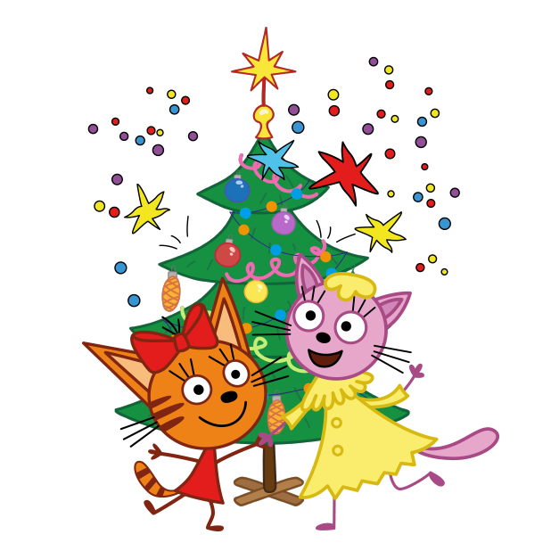 Kid-E-Cats: Christmas messages sticker-3