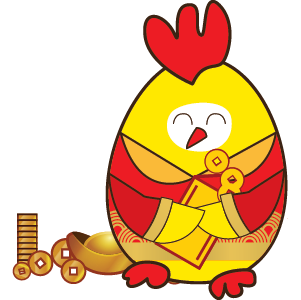 Happy New Year 2017 - Year of the Rooster messages sticker-2
