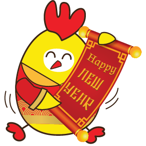 Happy New Year 2017 - Year of the Rooster messages sticker-0