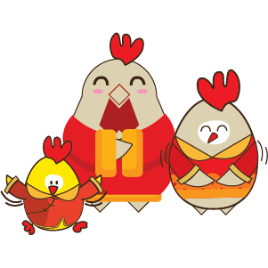 Happy New Year 2017 - Year of the Rooster messages sticker-10