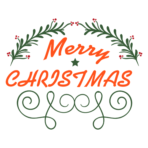 Merry Christmas Collage - Typography Captions messages sticker-2