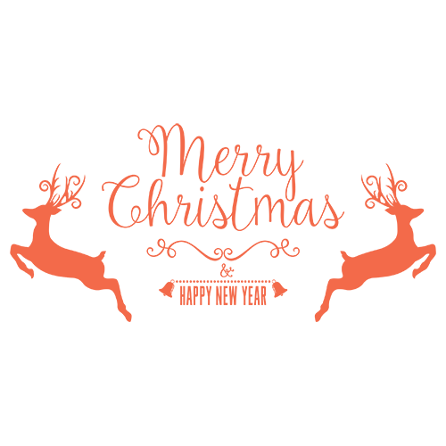 Merry Christmas Collage - Typography Captions messages sticker-5