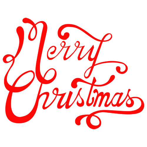 Merry Christmas Collage - Typography Captions messages sticker-4