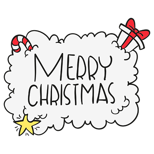 Merry Christmas Collage - Typography Captions messages sticker-9