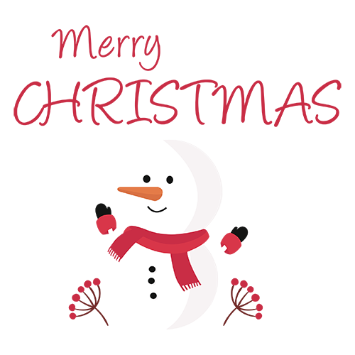 Merry Christmas Collage - Typography Captions messages sticker-0