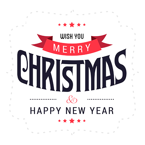 Merry Christmas Collage - Typography Captions messages sticker-8