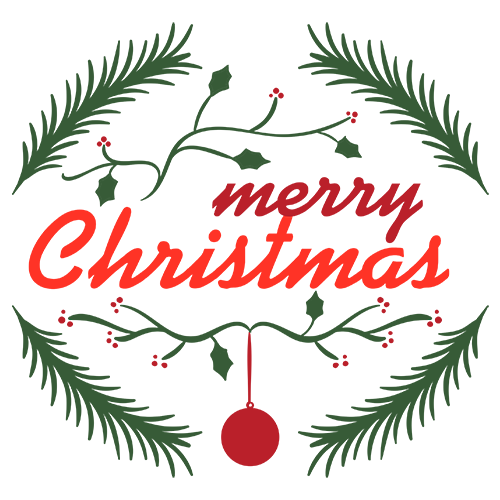 Merry Christmas Collage - Typography Captions messages sticker-6
