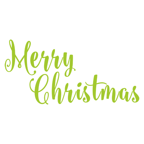 Merry Christmas Collage - Typography Captions messages sticker-1