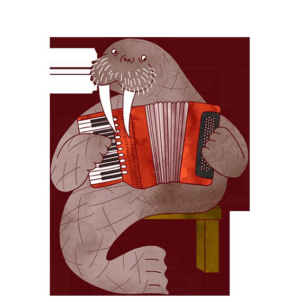 Jazzy Animal Musicians messages sticker-7